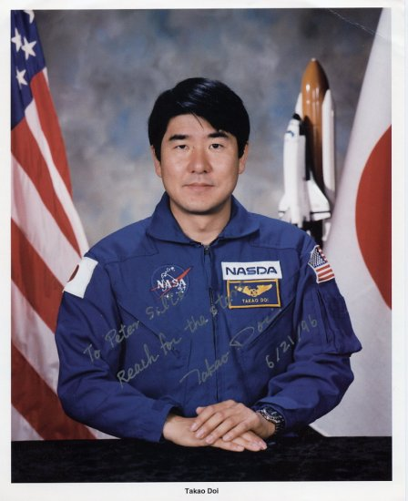 Japanese Astronaut TAKAO DOI Hand Signed Photo 8x10