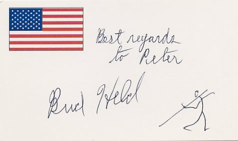 1950s Javelin World Records FRANKLIN HELD Autographed Card & Sketch