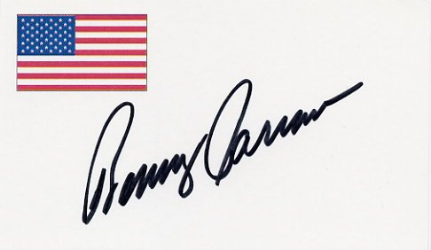NASCAR Driver & Analyst BENNY PARSONS Hand Signed Card