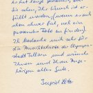 1964 Tokyo Discus Silver INGRID LOTZ Autograph Letter Signed 1980