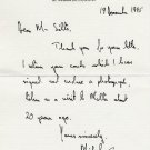 British Field Marshal MICHAEL CARVER  Autograph Letter Signed 1995