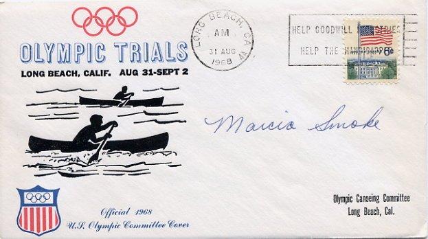 1964 Tokyo Canoeing Bronze MARCIA JONES Hand Signed Cover 1968