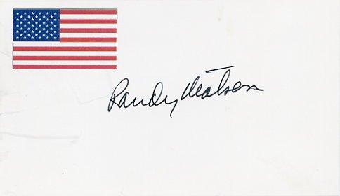 1968 Mexico City Shot Put Gold & WR  RANDY MATSON Autographed Card 3x5