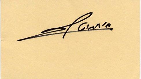 Israel - Mayor of Ma'alot Tarshiha SHLOMO BUCHBUT Autographed Card 1989