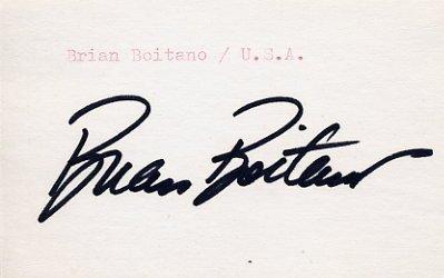 1988 Calgary Figure Skating Gold BRIAN BOITANO Autograph 1988
