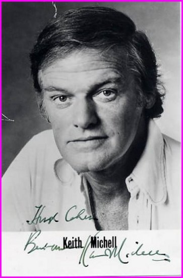 Australian Actor  KEITH MICHELL  Hand Signed Photo 1979