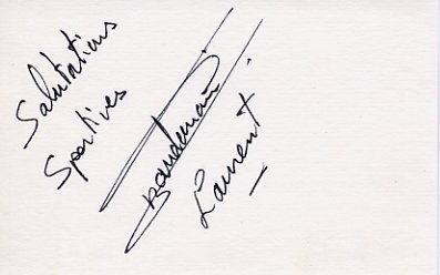 1988 Seoul Boxing Silver & WBA World Light Middleweight Champ LAURENT BOUDOUANI Autograph 1988