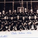1952 Oslo Ice Hockey Silver DONALD WHISTON Hand Signed Photo