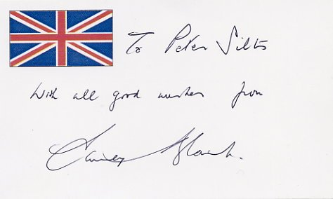 British Composer & Conductor STANLEY BLACK Autographed Card 1995 #2