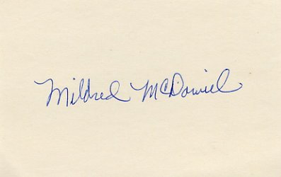 1956 Melbourne High Jump Gold & WR MILDRED McDANIEL Autograph '80s