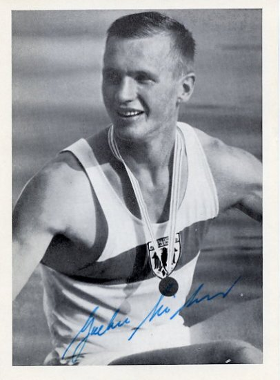 1968 Mexico City Rowing Silver JOCHEN MEISSNER Hand Signed Photo
