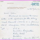 Ireland - Champion Athlete & Sports Journalist BRENDAN O'REILLY Autograph Letter Signed 1973