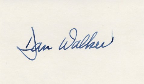 1973-77 Illinois Governor DANIEL WALKER Hand Signed Card 1976