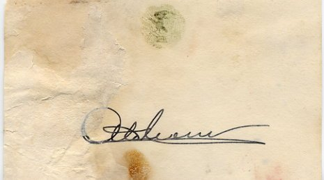 1961-68 Illinois Governor OTTO KERNER Autographed Card 1964