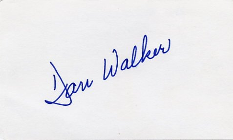 1973-77 Illinois Governor DANIEL WALKER Hand Signed Card 1974 #2