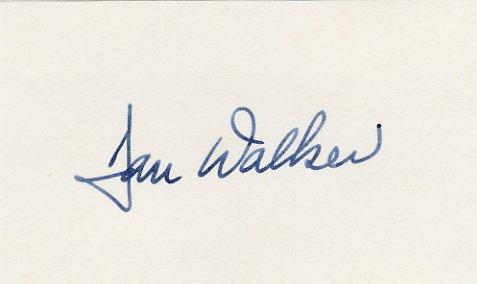 1973-77 Illinois Governor DANIEL WALKER Hand Signed Card 1976 #2
