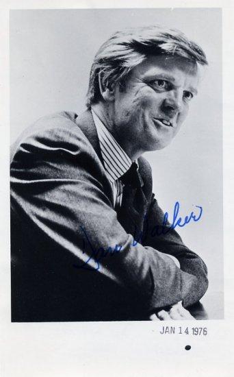 1973-77 Illinois Governor DANIEL WALKER Hand Signed Photo 1976