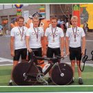 1988 Seoul Cycling Gold JAN SCHUR Hand Signed Photo