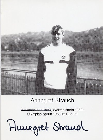 1988 Seoul Rowing Gold ANNEGRET STRAUCH Hand Signed Photo