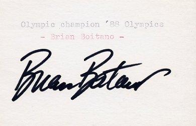 1988 Calgary Figure Skating Gold BRIAN BOITANO Autograph 1988 #2