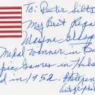 1952 Helsinki Basketball Gold WAYNE VICTOR GLASGOW Autograph Note Signed