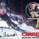 1988 Calgary & 1994 Lillehammer Alpine Skiing Gold VRENI SCHNEIDER Hand Signed Photo Card 1988