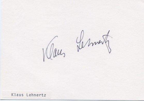 1964 Tokyo Pole Vault Bronze KLAUS LEHNERTZ Autographed Card 4x6