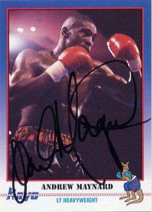 1988 Seoul Boxing Gold ANDREW MAYNARD Autographed Kayo Boxing Card #1