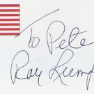 1948 London Basketball Gold & NBA RAY LUMPP Autographed Card 3x5