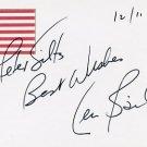 Pioneering Surgeon LEONARD BAILEY Autographed Card 1995