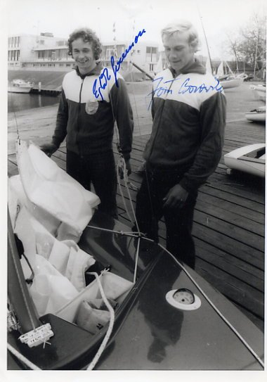 1980 Moscow Sailing Silver JORN BOROWSKI / EGBERT SWENSSON Autographed Photo 1980