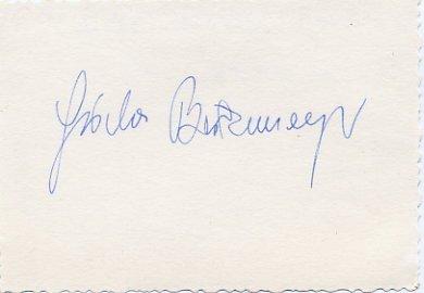 1956 Melbourne & 1960 Rome 80m Hurdles Medalist GISELA BIRKEMEYER Autograph 1970s