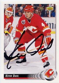 1992 Albertville Ice Hockey Silver KEVIN DAHL 1992 Upper Deck Autographed Rookie Card