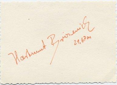1972 Munich Athletics Shot Put Bronze HARTMUT BRIESENICK Autograph 1970s