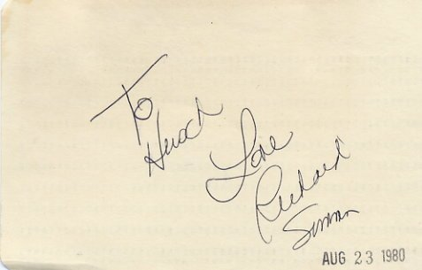 American Fitness Guru RICHARD SIMMONS Autographed Card 1980