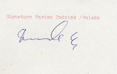 1964 Tokyo Athletics 4x100m Relay Silver MARIAN DUDZIAK  Autograph