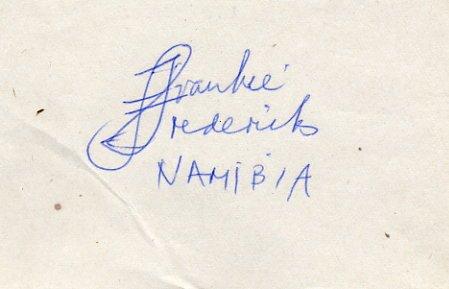 1992 Barcelona & 1996 Atlanta Athletics Four Silver Medals FRANKIE FREDERICKS  Autograph