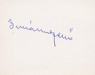 1952 Helsinki Football Gold JENO BUZANSZKY Autograph