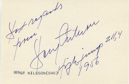 1954 European High Jump Gold BENGT NILSSON  Autograph