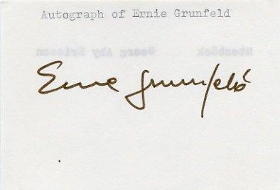 1976 Montreal Basketball Gold & NBA ERNIE GRUNFELD Autograph