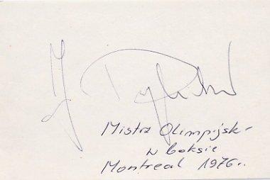 1976 Montreal Boxing Gold JERZY RYBICKI Autograph
