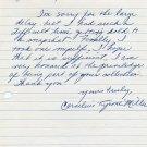 1960s Indiana University Track Star CORNELIUS MILLER  Autograph Letter Signed 1962