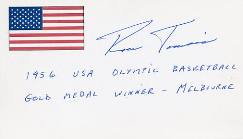 1956 Melbourne Basketball Gold RONALD TOMSIC Autographed Card
