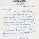 Illinois 1952-53 Big Ten Hurdles Champion JOEL Mc NULTY Autograph Letter Signed 1953