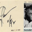 Author & Scriptwriter GERALD GARDNER Hand Signed Card 1992