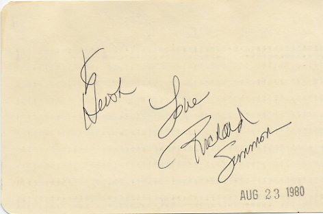 American Fitness Guru RICHARD SIMMONS Autographed Card 1980 #2