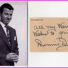 Singer & Comedian & Radio/TV DENNIS DAY Autograph 1982 & Pict