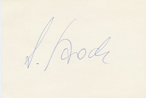 1980 Lake Placid Alpine Skiing Downhill Gold LEONHARD STOCK Autograph 1980