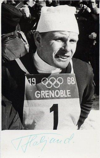 1968 Grenoble Nordic Combined Olympian TONU HALJAND Autographed Photo 1968