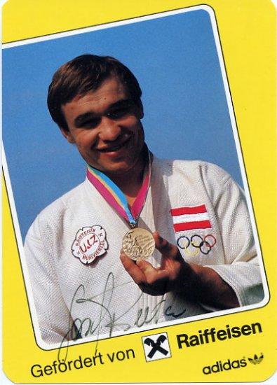 1984 Los Angeles Judo Bronze JOSEF REITER Hand Signed Photo